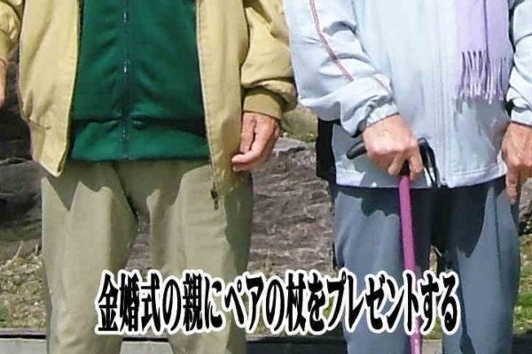 金婚式変わり種プレゼント|夫婦ペアのお洒落な介護杖はいかが?